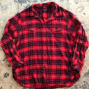 Madewell flannel medium red and blue super soft